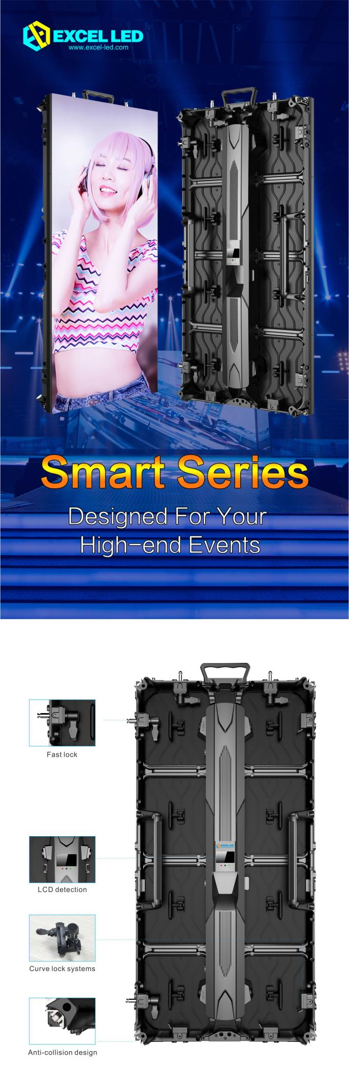 HD Waterproof Indoor Rental Led Display Screen Full Color Billboard Advertising P4.81