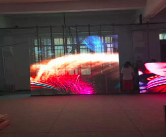 P3 Supermarket Glass Advertising LED Display Screen High Transparent