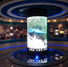 Cylinder Shape Irregular LED Display Indoor For Stage Event Advertising